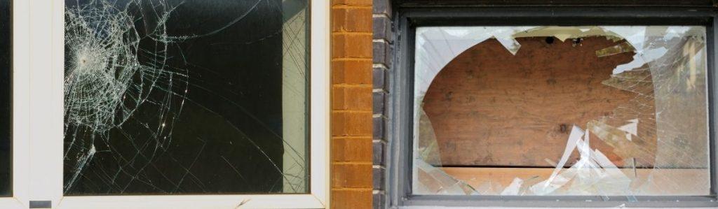 How to cover broken window