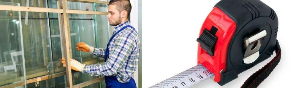 How to measure window glass